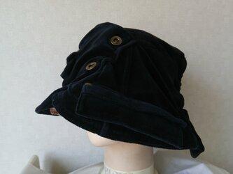 魅せる帽子☆ブラックなジャケットを被る!?リメイクハットの画像