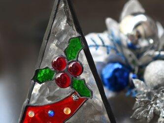 可愛いステンドグラス クリスマスツリーの画像
