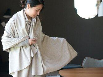 ヤク混 ネル生地大判ブランケットストール【Organic Cotton】の画像