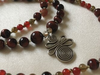 カレン族シルバーのネックレスの画像