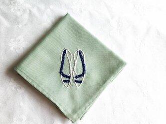 靴刺繍のハンカチNo.3の画像