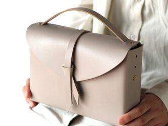 2way レザーボックスバッグ スリム #グレージュ/ box bag slim #greigeの画像