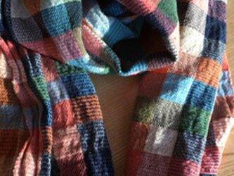 ◆手織/cottont・極細単糸/45×190ストールの画像