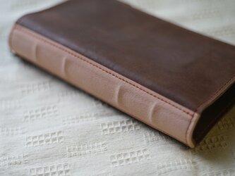 活字狂のための洋古書鞄/ブラウン×アッシュピンクの画像