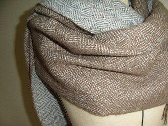 手織カシミヤストール 2の画像