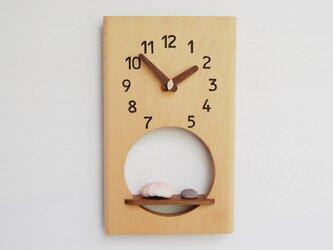 31cm×19cm 掛け時計 ブナ【1911】の画像