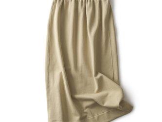 ★4周年記念キャンペーン★スウェットスカート ロングスカート コットン ベージュ191003-1の画像
