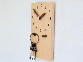 28cm×14cm 掛け・置き時計 ブナ【1914】の画像