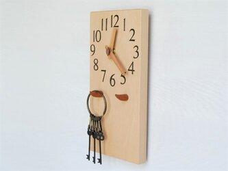 28cm×14cm 掛け・置き時計 ブナ【1915】の画像