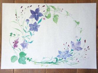 包装紙【秋の花のリース】の画像
