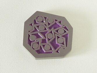 ジオメトらない手鏡(sharp eyes)紫の画像