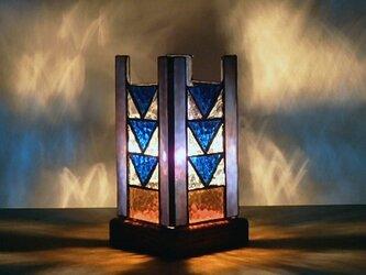 ステンドグラス アクセントランプ 「青の世界」の画像