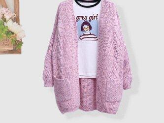 冬 ♪受注制作 手編み 大きいサイズ お洒落 ゆったり 着痩せ ニット ニットトップスの画像
