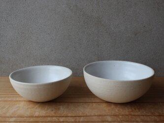 育てるウツワ ボウル ペア茶碗 ペア セット(地シリーズ)白 陶土 ①の画像