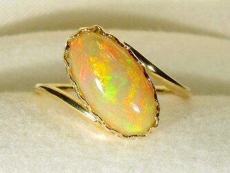 1.65ctオパールとK18の指輪(リングサイズ:10号、イエローゴールド、エチアオピア・オパール)の画像