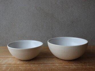 育てるウツワ ボウル ペア茶碗 ペア セット(地シリーズ)白 陶土 ②の画像