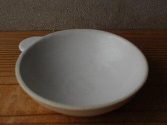 育てるウツワ 取ってつき 平鉢(地器chiki)白 陶土の画像