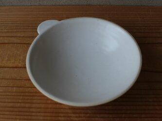 育てるウツワ 取ってつき 平鉢(地シリーズ)白 陶土の画像
