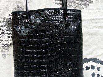 うさぎスカル、クロコのトート。の画像