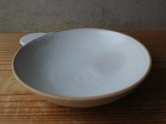 育てるウツワ 取ってつき 平鉢(地器chiki)茶 陶土の画像