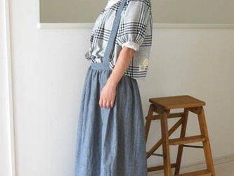 soldout☆コットンリネンダンガリーのサスペンダースカートの画像