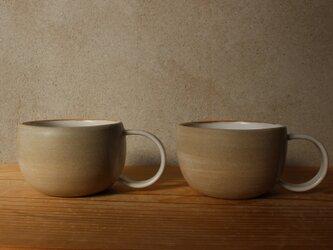育てるウツワ マグカップ ペアセット  丸取って(地シリーズ) 茶の画像