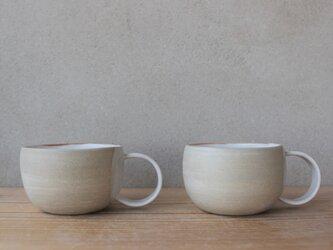 育てるウツワ ペア マグカップ 丸取って 茶 地シリーズの画像