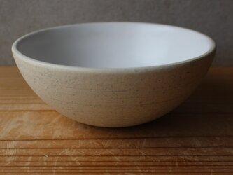 育てるウツワ 大きめお茶碗 どんぶり(地シリーズ)白 陶土の画像