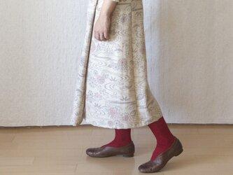 ウールのラップスカートの画像