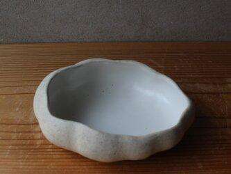育てるウツワ 雲のカタチの鉢(地シリーズ)白 陶土の画像
