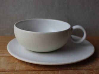 育てるウツワ カップ &ソーサー(地シリーズ) 白 紅茶の画像