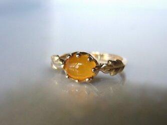 メキシコオパールとミルククラウンの指輪(K10)の画像