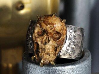 Hammering wide band SkullcarvingJasper HFR-44の画像