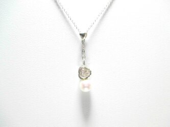 【あこや真珠 スワロフスキー ネックレス2】の画像
