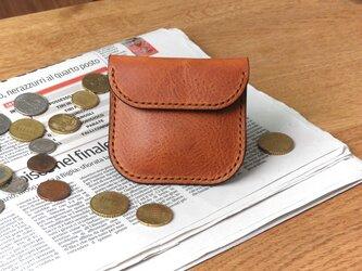 イタリア革のコインケース/ブラウンの画像