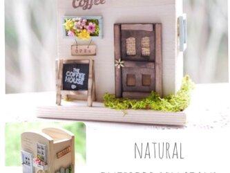 【木製ナチュラルペンスタンド】112…お家 カフェ ミニチュア ペン立て 文具 グリーン フラワー ナチュラルの画像
