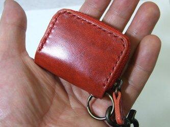 ミニファスナーコインケース ルガトショルダー赤の画像