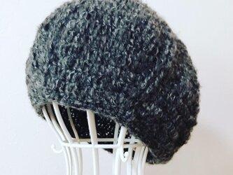 Sold out ウールモヘアのまぁるいニット帽の画像