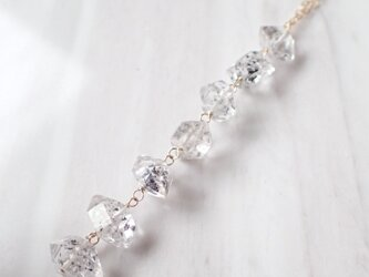 K14GF double point quartz necklaceの画像