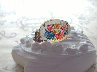 ヴィンテージ Colorful-flower/frost ネックレスの画像