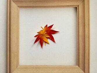 紅葉のブローチの画像