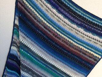 手編みのブランケットの画像