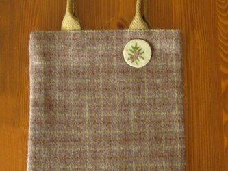 ウール・プティバッグ(紫×チェック)の画像