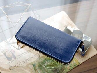 《CHLOE》◇ラウンドファスナー長財布◇ブルーの画像