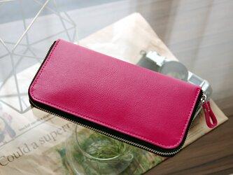 《CHLOE》◇ラウンドファスナー長財布◇ピンクの画像