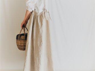 リネン2wayサスペンダースカート♡ニュアンスたっぷり♪ナチュラル系マストアイテム♡の画像