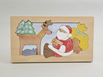 木のパズル サンタとトナカイ(2)の画像