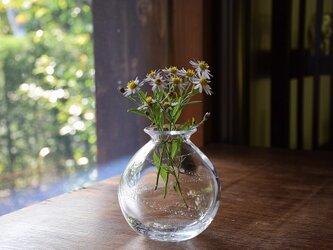 もこもこ銀箔らいん花瓶の画像