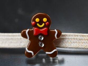 ジンジャークッキーの帯留め の画像