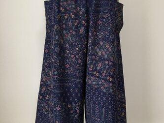 正絹 エレガント ワイドパンツ 着物リメイク L〜LLの画像